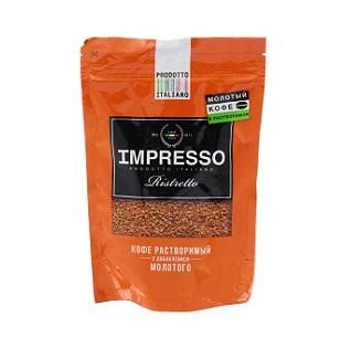 Кофе IMPRESSO Ristretto раст.+мол. 100г пакет