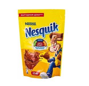 Какао Нестле Несквик 250г пакет