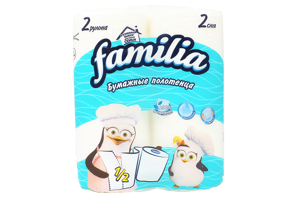 Полотенца Familia 2-сл 2шт