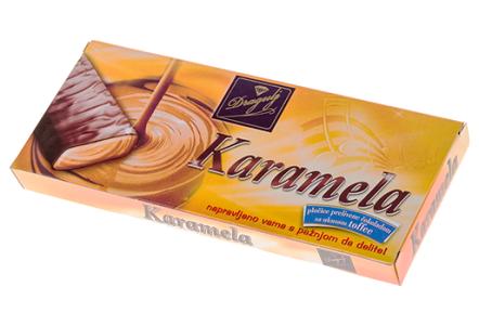 Шоколадные батончики Karamela с карам. 125г Dragulj
