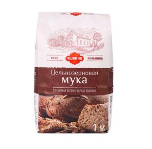 Мука Яшкино пшеничная цельнозерновая 1кг