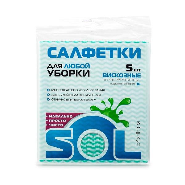 Салфетки/хоз SOL д/кухни 30*38  5шт