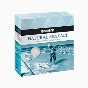 Соль SETRA морская натуральная 500г
