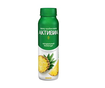 Биойогурт Активиа пит. 2% 260г ананас БЗМЖ