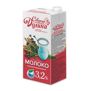 Молоко Северная Долина у/паст. 3,2% 925мл/950г