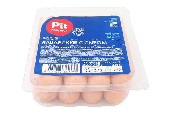 Сосиски Баварские с сыром 336г Пит Продукт