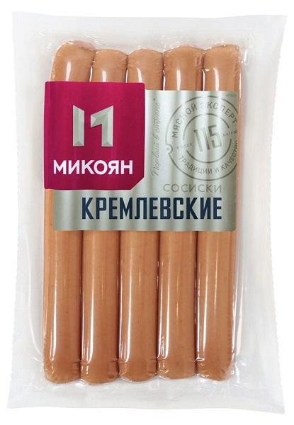 Сосиски Кремлёвские 380г термо Микоян