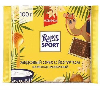 Шоколад Риттер-спорт медовый орех/йогурт молочный 100г