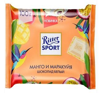 Шоколад Риттер-спорт манго/маракуйя белый 100г