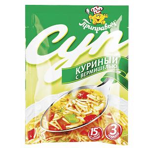 Суп Приправыч Куриный с вермишелью 60г