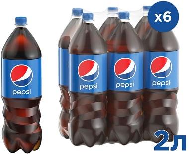 Напиток Пепси 6шт*2л упаковка