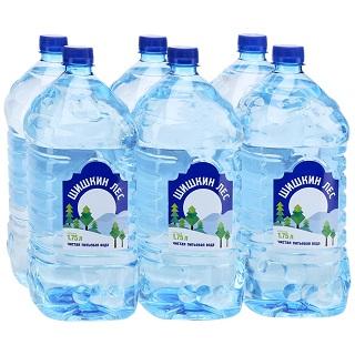 Вода Шишкин лес негаз. 1,75л*6шт ПЭТ упаковка