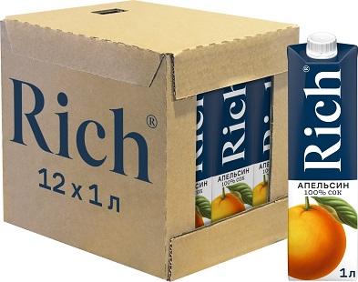Сок Рич апельсин 1л*12шт  упаковка