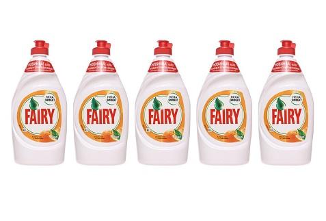 Ср-во д/посуды Fairy апельсин и лимонник 450мл*5шт упаковка