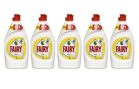 Ср-во д/посуды Fairy сочный лимон 450мл*5шт упаковка
