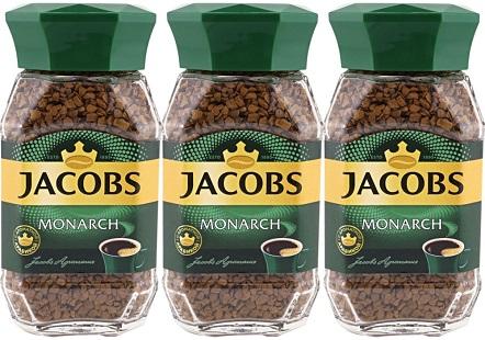 Кофе Якобс Монарх растворимый 47,5г*3шт стекло упаковка