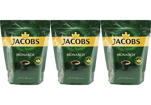 Кофе Якобс Монарх растворимый 150г*3шт пакет упаковка