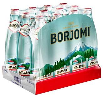 Вода Боржоми 0,5л*12шт ст/б упаковка