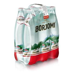 Вода Боржоми 0,75л*6шт ПЭТ упаковка