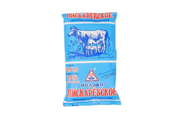 Молоко 2,5% 0.5л тфа Пискарёвский м/з БЗМЖ