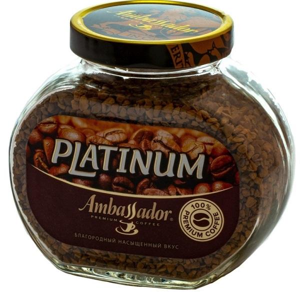 Кофе Амбассадор Платинум раств. 95г ст/б